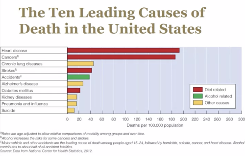 US causes of mortality